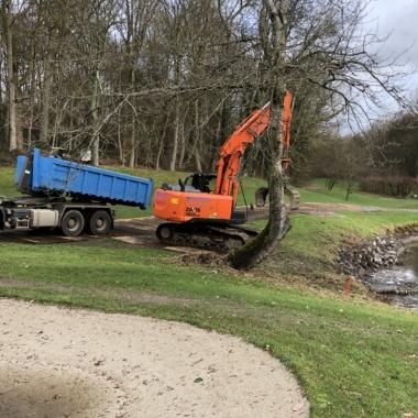 Rénovation des berges des étangs